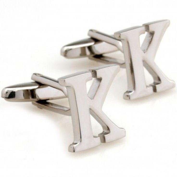 letter k initial cufflinks cufflinkspalace