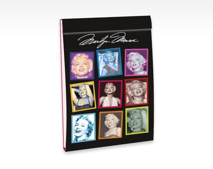 NEW! NOUVEAU! Mini-bloc 12 Marilyn Monroe - 8 x 12 cm