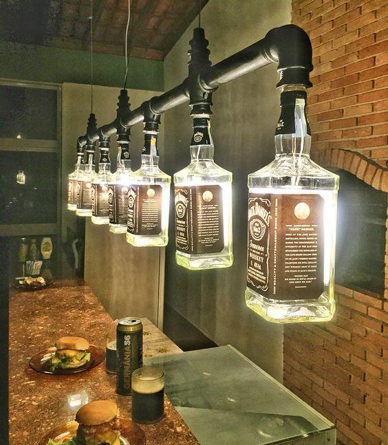 Lustre Industrial de garrafas Jack Daniel's…: