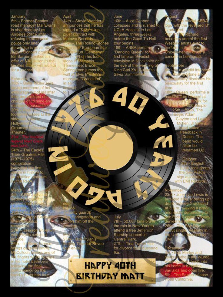 Milestone Poster - Musical History by MyCreatve3dge on Etsy