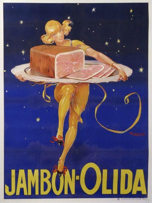 jambon olida : 1925 affiches anciennes de RIBET René