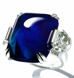 Kashmir Sapphire Diamond Ring by Mouawad