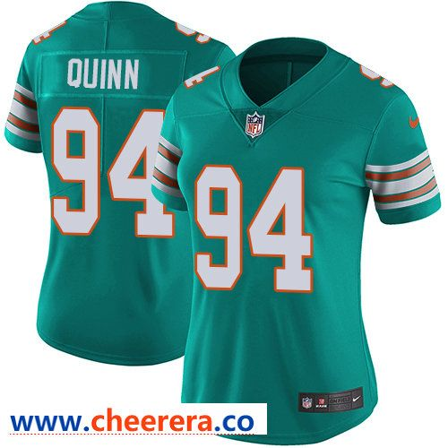 4afcfcce7 Nike Dolphins  94 Robert Quinn Aqua Green Alternate Women s Stitched NFL  Vapor Untouchable Limited Jersey