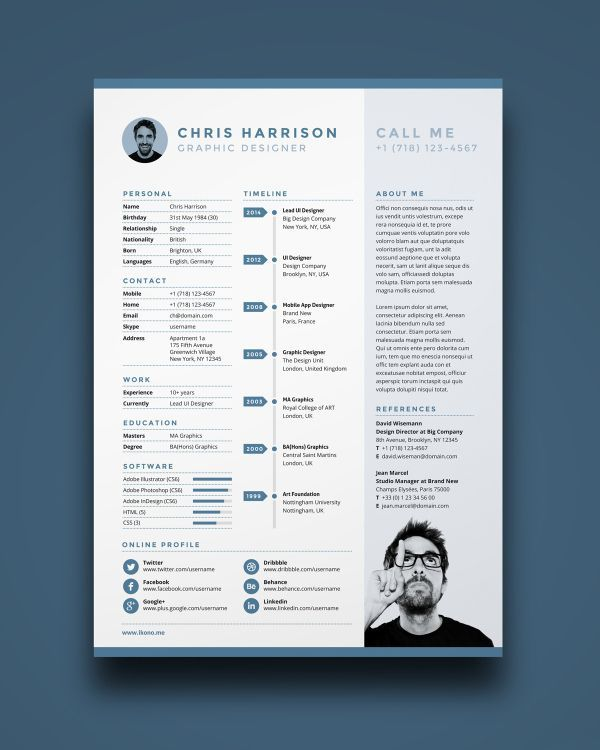 Best Cool Resumes Images On   Creative Resume Design