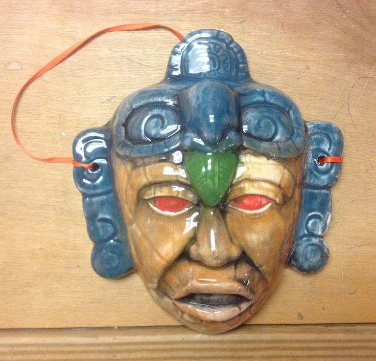 Mayan inspired tribal mask