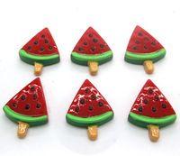 Trendy popolare!  30 pz resina rossa anguria ice cream flatback cabochon kawaii scrapbooking decorazione della casa artigianato