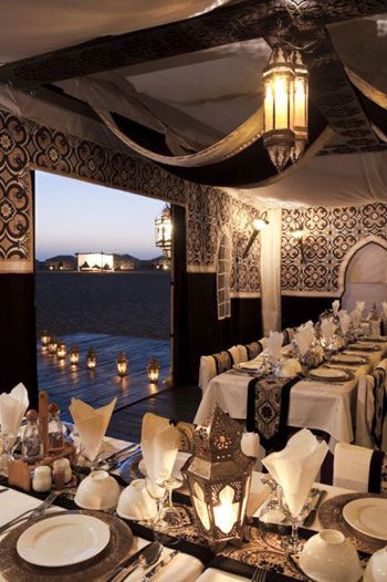 Dining in the luxury tents @ Ubar Magic Lodge in the Akakus desert, Libya, Maghreb region , North Africa
