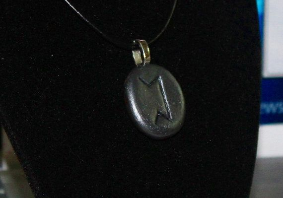 Rune stone necklace Perth talisman by DruidBoyDesigns on Etsy