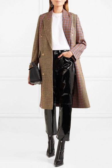 RAG & BONE Patent-leather straight-leg pants $995 Patent-leather was seen all over the Fall '17 runways in the form of boots, blazers and skirts; it's a huge trend this season. rag & bone's glossy pants are cut for a straight fit and cropped at the ankle. Create a textural contrast and wear them with cozy sweaters.  Shown here with: Golden Goose Deluxe Brand Coat, The Row T-shirt, Loewe Shoulder bag, Alexander Wang Boots, Sophie Buhai Earrings, Bottega Veneta Rings.