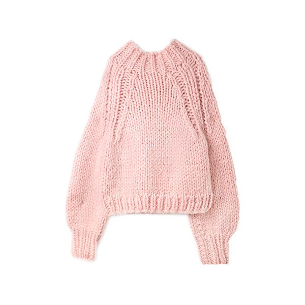 ボトルネックニット「BUBBLES ONLINE STORE【バブルス公式通販サイト】」 ❤ liked on Polyvore featuring tops, clothing - ls tops, pink top and bubble top