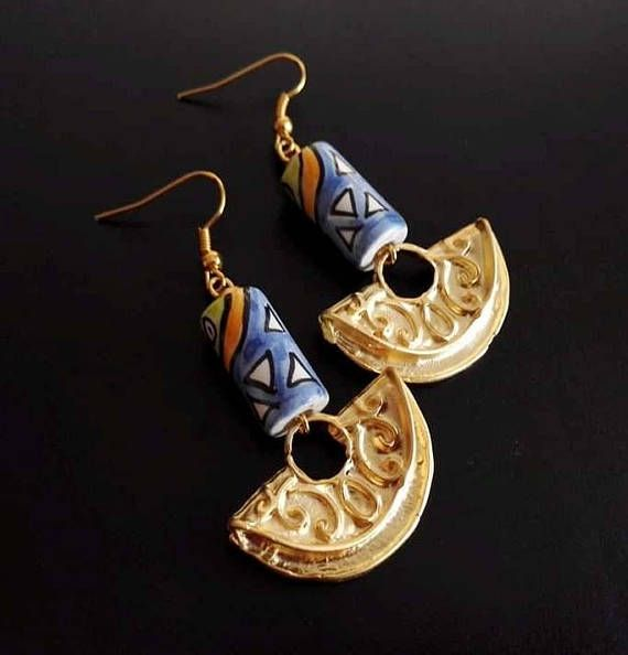 Hey, I found this really awesome Etsy listing at https://www.etsy.com/listing/575140211/ethnic-earrings-peruvian-ceramic