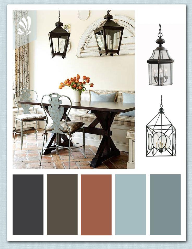 Rustic dining room light blue color palette c o l o r s for Light blue dining room