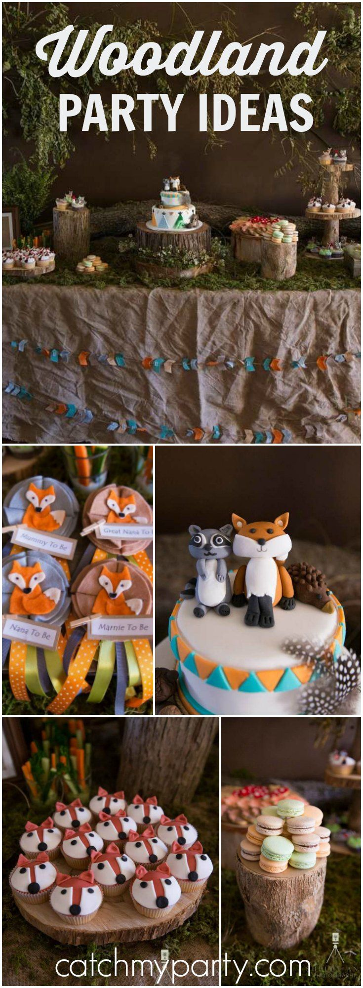 How adorable is this woodland baby shower?! See more party ideas at Catchmyparty.com!