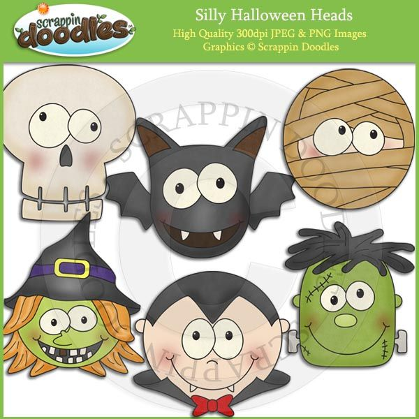 Silly Halloween Heads Clip Art - $2.00 : Scrappin Doodles, Creative Clip Art, Websets & More