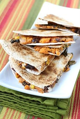 Sweet potato and Kale Quesadilas. This website also has lots of other ...