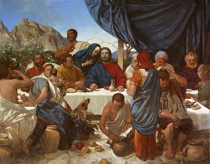Андрей Николаевич Миронов (A.N.Mironov) Брак в Кане.Marriage in Cana.2017,oil on canvas 110×140cm Рязань,Россия.