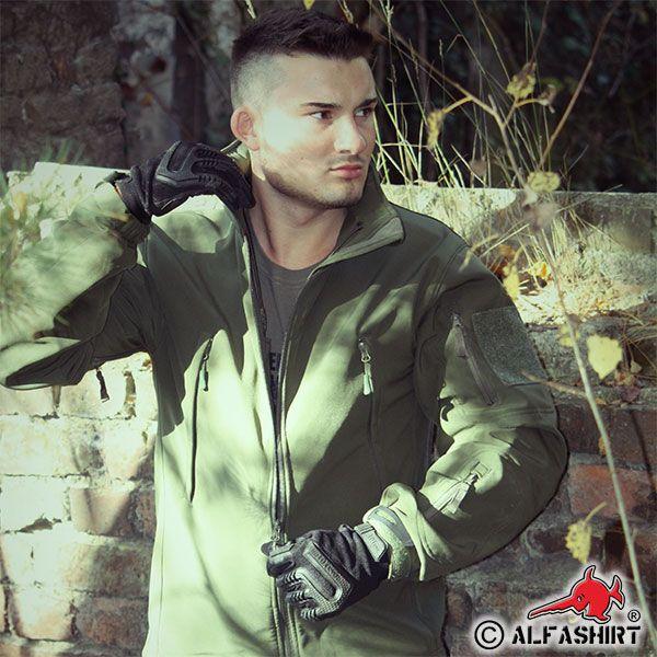 Atmungsaktive Taktische Soft Shell Jacke #Kleidung #Jacke #Softshell #oliv #Bundeswehr #Männer #Outdoor #Alfashirt #alfashirt