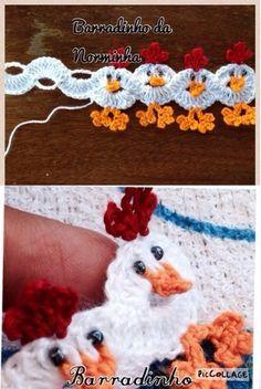 OFICINA DO BARRADO: Croche - Barrando Pintinhos...