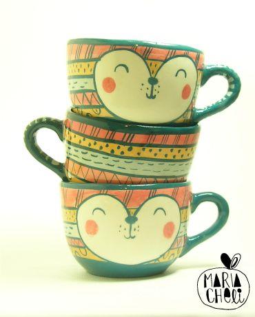 Tazas de cerámica Ceramic cups Tasses en céramique
