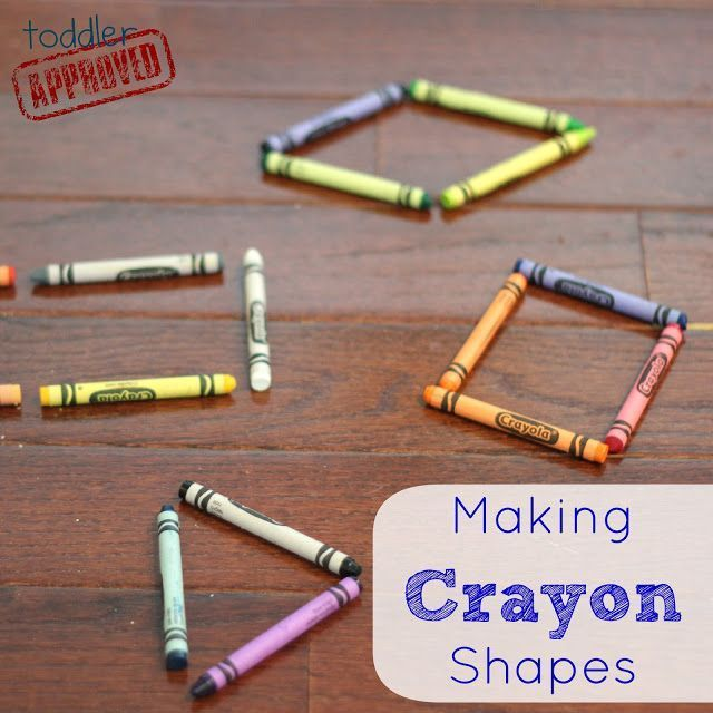 Toddler Approved!: Making Crayon Shapes- Back to School Basics