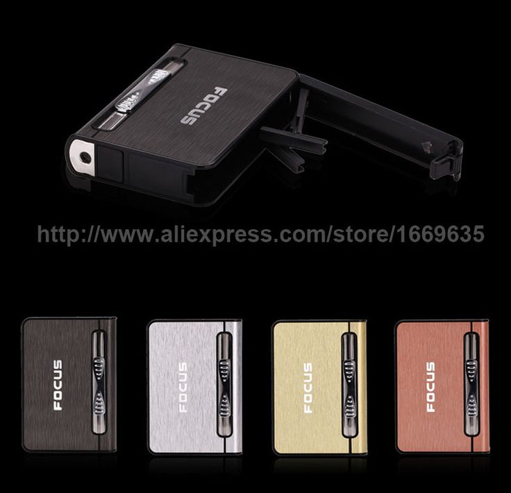 Find More Lighters u0026 Smoking Accessories Information about New Ultra thin Focus Metal 8pcs Cigar Cigarette Box Holder Tobacco Storage Case w/ Torch Butane ... & 18 best Cigarette Box images on Pinterest | Information about ... Aboutintivar.Com