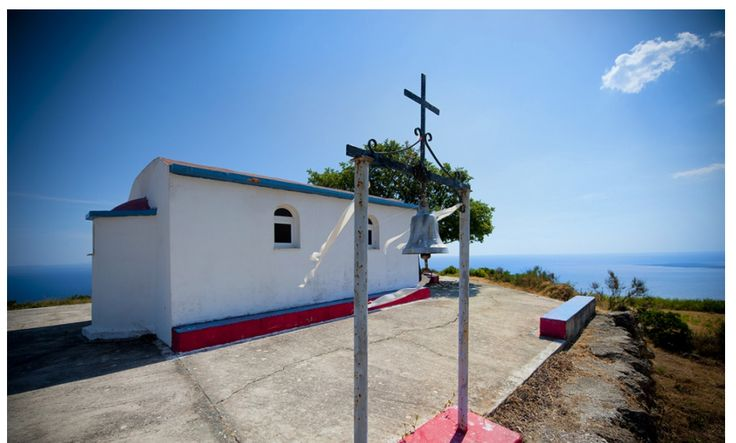 kefalonian greek chapel located over the hill with stunning sea views. Amazing  wedding location!
