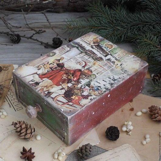 """Корзины, коробы ручной работы. Ярмарка Мастеров - ручная работа. Купить """"Рождественские подарки"""" Короб- пенал из Ольхи. Handmade."""