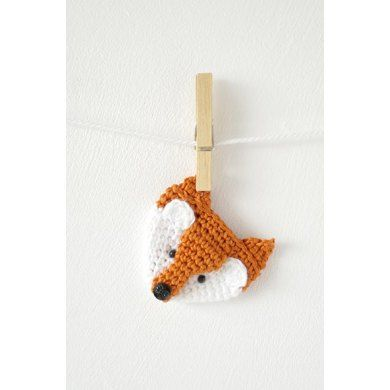 Fox Brooch Crochet pattern by Little Doolally | Crochet Patterns | LoveCrochet