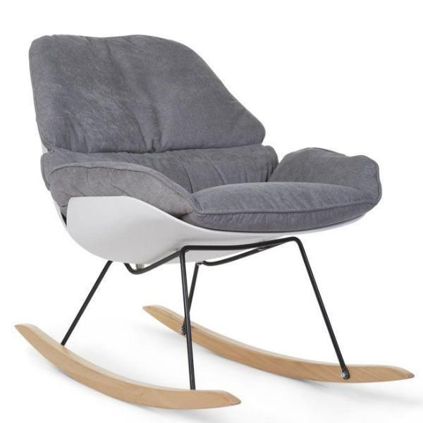 Childhome Rocking Nursery Chair In White & Grey in 2020