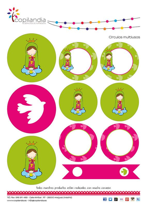 First Communion Printable Kit by CopilandiaEventos on Etsy