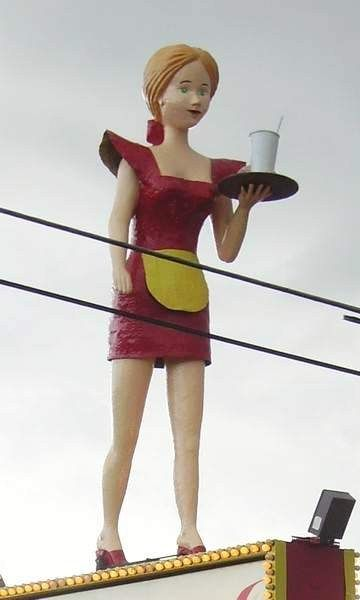 A local landmark on top of the Colonial Coney Island.  I remember she had an arrow shot into her breast once.