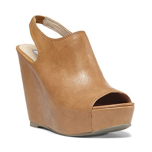 BLASSST COGNAC women's dress high wedge - Steve Madden ...