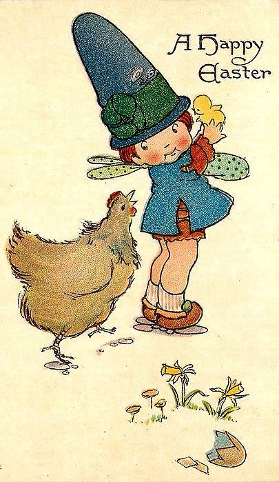 Fairy, chick, hen.