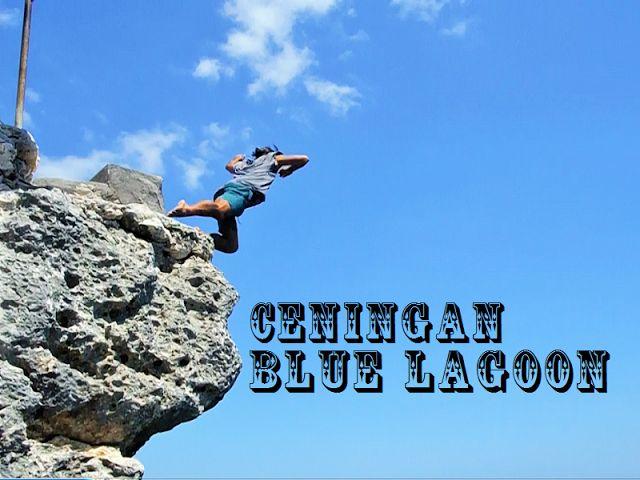 新・バリの素(もと): 13m落下しました…チュニガン島ブルーラグーンのクリフジャンプに挑戦(ceningan cliff ...