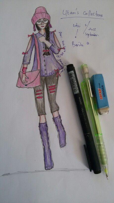 Fashion skecth Dewi utari
