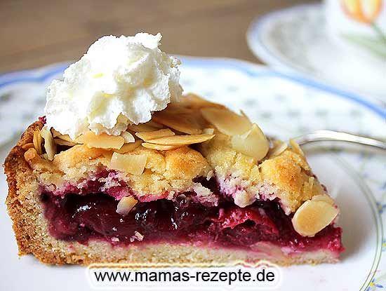 Rezept Kleiner Kirschkuchen mit Mandeln auf Mamas Rezepte Homepage