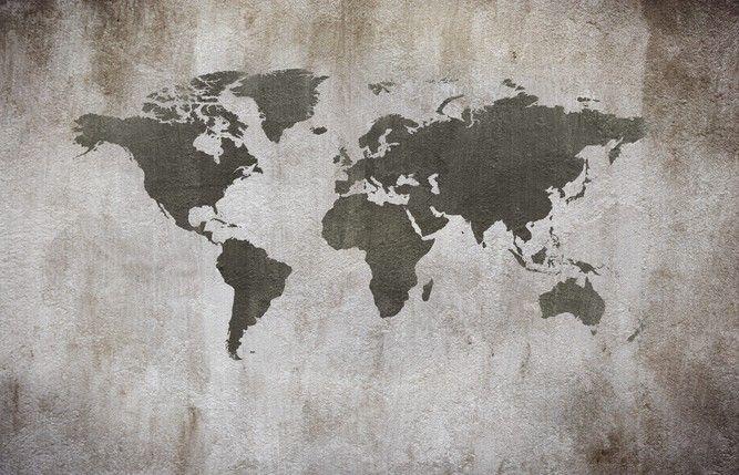 Picture: Worldmap concrete