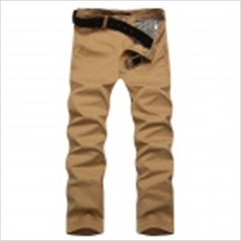 Men's Slim Stylish Cotton Casual Pants - Khaki (Size 30) $28.45