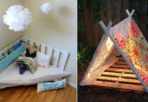 25 ideias para usar pallets em quartos e decorações infantis!