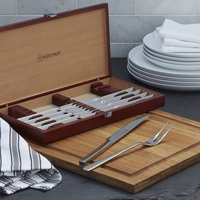 For four days only! Just in time for #FathersDay, we've sliced the price on this @wusthof 10-Piece Steak and Carving Knives Set. Now through June 21. Click the link in our bio to shop the #sale!