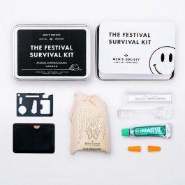 Festival sind großartig – wenn man denn richtig vorbereitet ist. Das Festival-Survival-Kit macht selbst den ungeplanten Festival Besuch perfekt; hier ist wirklich alles drin, um selbst kritische Situationen spielend zu meistern.Lieferumfang: - Regenponcho (Einheitsgröße), - Mulitool, - 2 Ohrstöpsel, - Reisezahnbürste, - Marvis Zahnpasta- verpackt in stilvoller MetalldoseMaterial: Metall, Kunststoff (überwiegend)Farbe: silberfarben (überwiegend)Maße: 14 × 10 × 3 cm