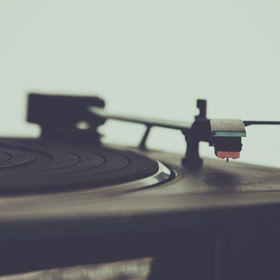 Vintage Black Vinyl Disc Player