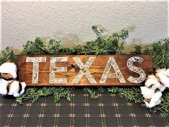 Unique Texas Farmhouse Sign / Rustic Texas Decor / Fixer Upper