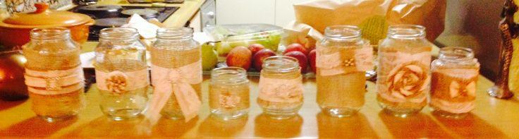 Handmade candle jars