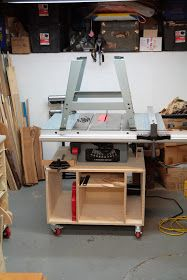Made By John: Mobile Base / Storage Cart For Contractor Table Saw