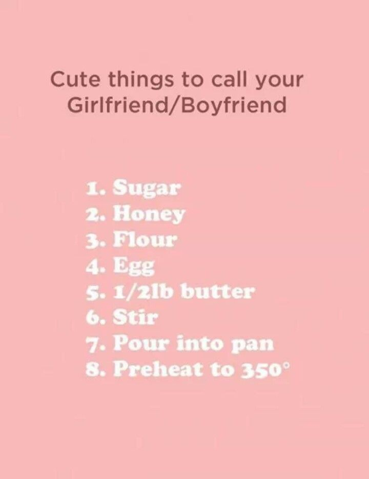 Cute little nicknames for your boyfriend