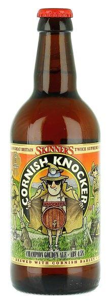 CORNISH KNOCKER: 'champion golden ale' from Skinner's.