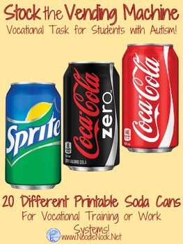 Soda Can Vending Machine Stocking- A Vocational Activity for LIFE Skills and Autism Units