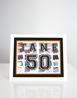 50-vuotis onnittelukortti miehelle / Birthday card for a 50-year old man