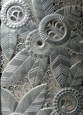 Cast iron art deco entrance for Domus, 181 Madison Avenue.